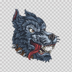 Angry Wolf Tattoo Style 23000