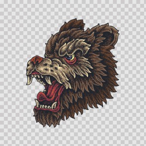 Angry Wolf Tattoo Style 23002