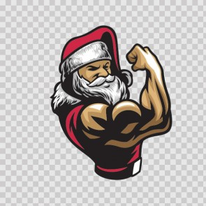 Body Builder Gym Muscle Santa Claus 23031
