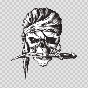 Skull Pirate With Sword 23108