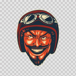 Evil Aviator Smiling With Helmet Goggles 23160