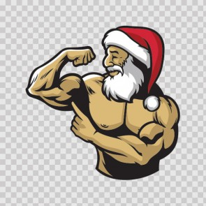 Body Builder Muscled Santa Claus  23183