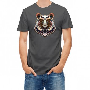 Ethnic Totem Style Bear Head 25419