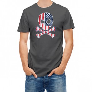 American Crossbone Skull Flag 25483