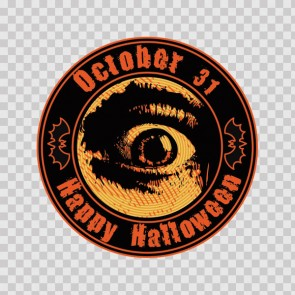 October 31 Happy Halloween Scared Eye 26604