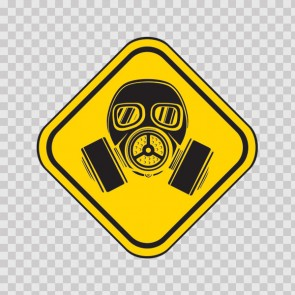 Gas Mask Sign 26614