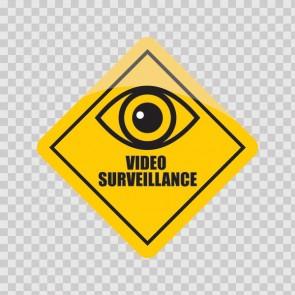 Camera Cctv Video Surveillance Sign 26624