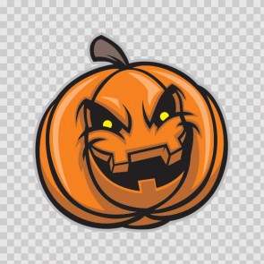 Evil Scary Smiling Pumpkin Halloween 26625