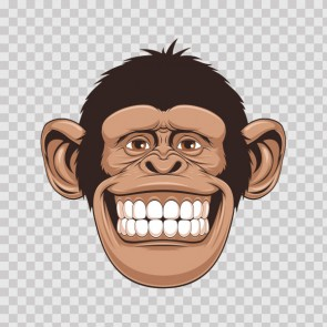Monkey Smile Cartoon 26689