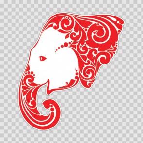Tribal Elephant Head Feng Shui Luck 26696