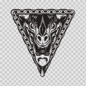 Devil Adversary Beast Lucifer Symbol 26699
