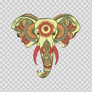 Ethnic Pattern Elephant Head Feng-Shui Good Luck 26707