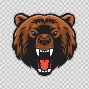 Mad Angry Bear Head Attack 26719