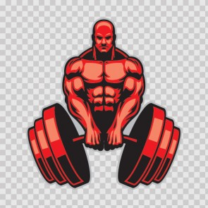 Tough Muscle Gym Training Exercise With Dumbbells 26743