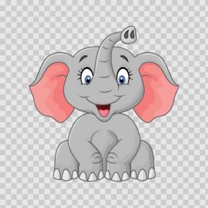 Happy Cute Cartoon Elephant 26766
