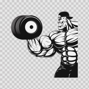 Tough Muscle Guy Gym Training With Dumbbells 26767