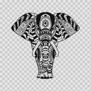 Decorated Pattern Elephant Head Feng Shui Good Luck 26772