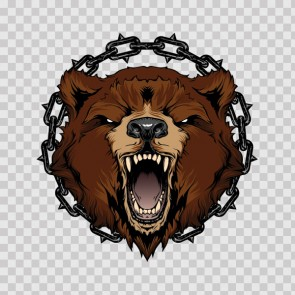 Angry Prisoned In Chains Wild Bear 26777