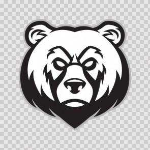 Angry Bear Head 26814