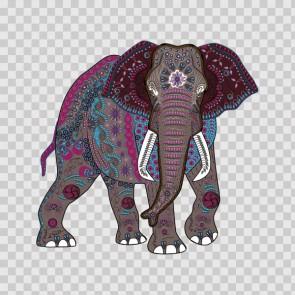 Ethnic Pattern Elephant Head Feng Shui Good Luck 26823