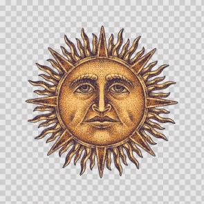 Gold Sun God Tattoo Style 26894