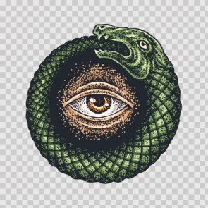 Religion Snake Masonic Eye Tattoo Style 26905