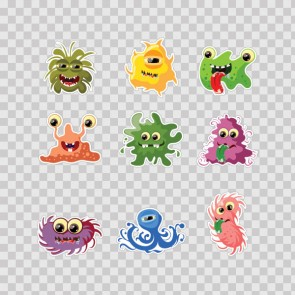 Set Of 9 Little Cartoon Monster 26920