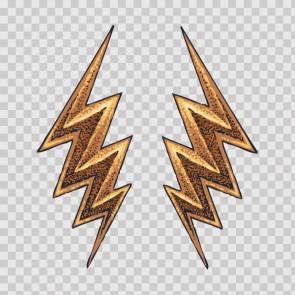 Thunder Lightning Bolt Tattoo Style 26946