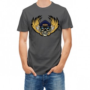 Aviator Skull With Wings 28280