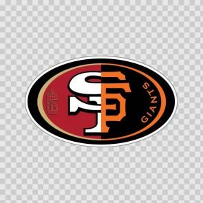 San Francisco Fan Giants 49ers Sport Combo Logosticker Decal Vinyl 80090