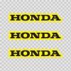 Honda Logo Yellow Black 01132