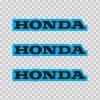 Honda Logo Blue Black 01133
