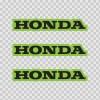 Honda Logo Green Black 01135