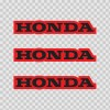 Honda Logo Red Black 01137