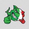 Italy Scuba Flag Shark 01491