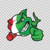 Italy Scuba Flag Shark 01492
