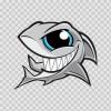 Angry Shark Smile 01793