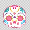 Flower Power Skull 02400