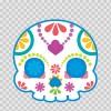 Flower Power Skull 02402
