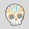 Flower Power Skull 02405