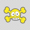 Cartoon Yellow Skull 02421