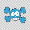 Cartoon Blue Skull 02422
