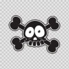 Cartoon Black Skull 02424