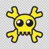 Cartoon Yellow Skull 02431