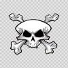 Crossbone Skull 02461