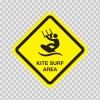 Kite Surf Area Sign 03182