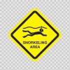 Snorkeling Area Sign 03185