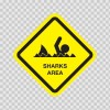 Sharks Area Sign 03187