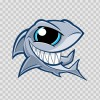 Smiling Shark With Big Eyes 03207