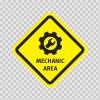 Mechanic Area Sign 03213